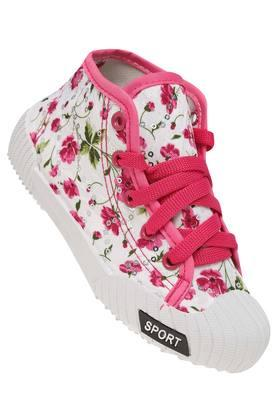 Girls Casual Wear Laceup Sneakers