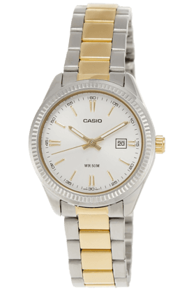 Casio Womens Analogue Round Dial Watch-A478 image