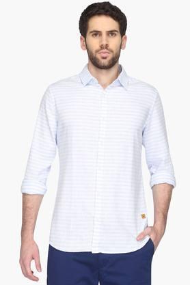 United Colors Of Benetton Formal Shirts (Men's) - Mens Regular Collar Stripe Shirt