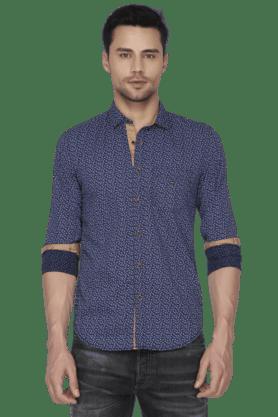 Louis Philippe Jeans Formal Shirts (Men's) - Mens Full Sleeves Slim Fit Casual Printed Shirt