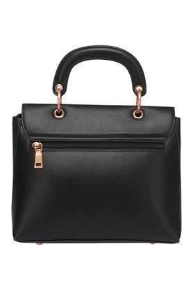 Womens Twist Clasp Closure Satchel Handbag