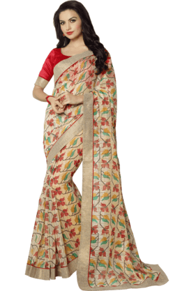Womens Linen Saree (Buy any Demarca product & get a pair of matching earrings free)