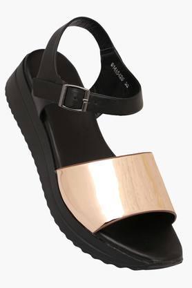 Womens Casual Wear Buckle Closure Wedge Sandals - 202376750