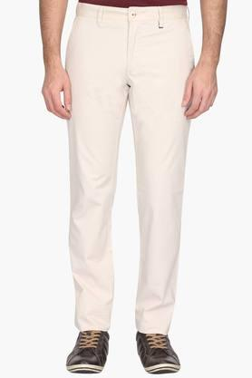 Mens Slim Fit 4 Pocket Solid Chinos (Steven Tapered Fit) - 202009668