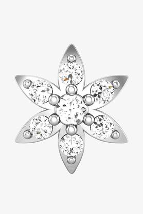 VELVETCASEWomens 18 Karat White Gold Nose Ring (Free Diamond Pendant) - 201065037