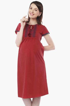 NINE MATERNITY Maternity Nursing Dress - 201716343