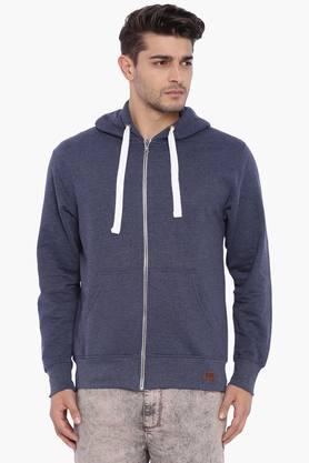 BLUE SAINTMens Dark Navy Hooded Sweatshirt