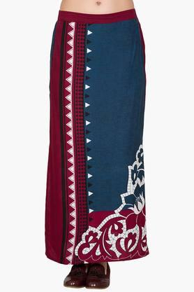 DESI BELLE Womens Printed Slitted Long Skirt - 201829041