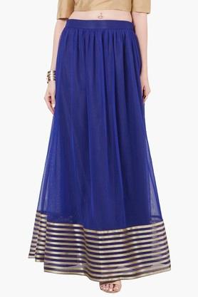 INDYA Womens Striped Maxi Skirt