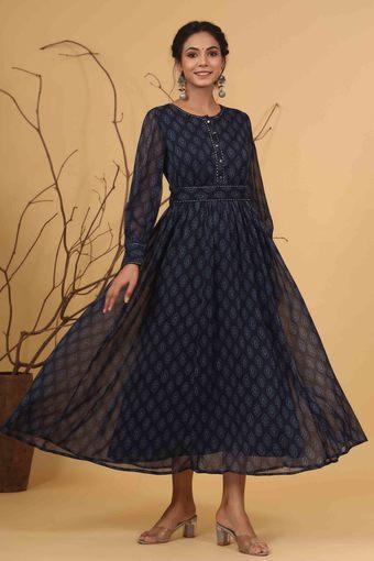 JUNIPER -  NavyIndianwear Dresses - Main