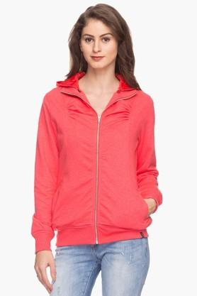 EXCLUSIVE LINES FROM BRANDS Womens Solid Hooded Sweatshirt