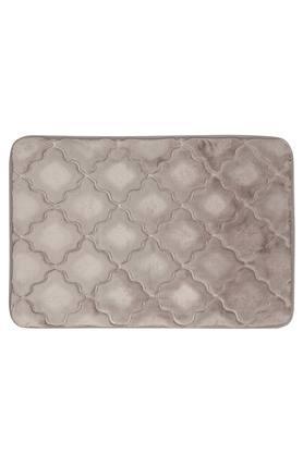Rectangular Solid Memory Foam Diamond Bath Mat