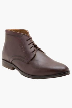 RED TAPE Mens Leather Lace Up Formal Boots