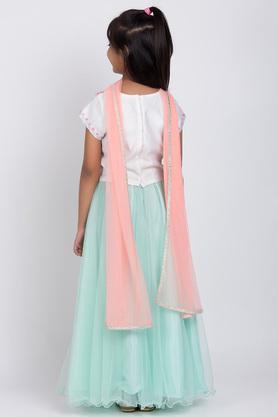 BIBA GIRLS - WhiteIndianwear - 1