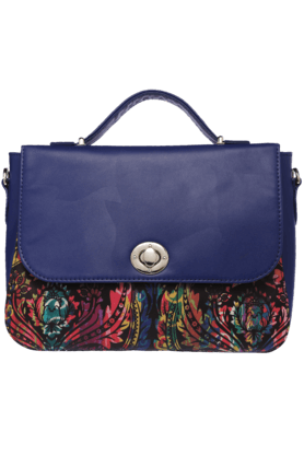 SATYA PAUL Womens Printed Satchel Bag
