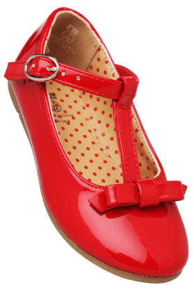 Red Patent T Bar Shoes
