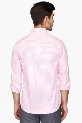 Mens Full Sleeves Slim Fit Casual Check Shirt