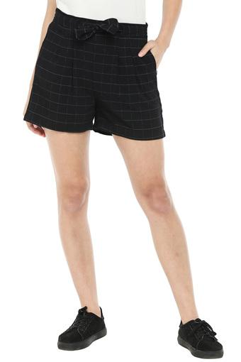 Womens 2 Pocket Checked Shorts