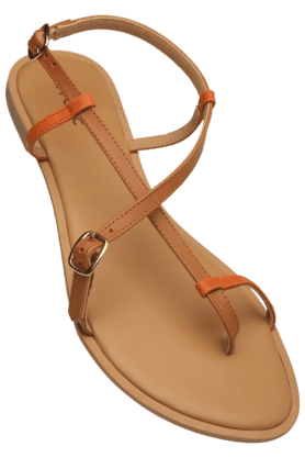 LIFE Womens Daily Wear Ankle Buckle Closure Flat Sandal (Use Code FB15 To Get 15% Off On Purchase Of Rs.1200)