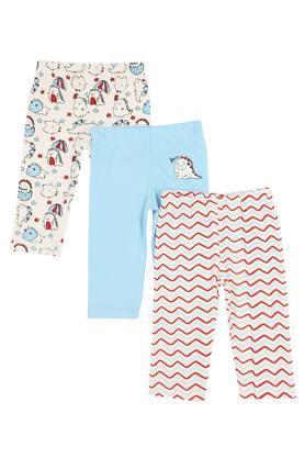 Boys Stripe Printed and Solid Pyjamas Pack of 3
