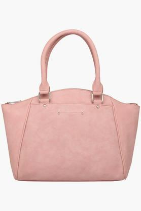 Womens Zipper Closure Synthetic Leather Tote Handbags