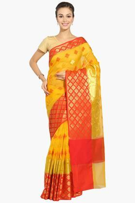 JASHN Women Zari Chanderi Saree With Zari Border