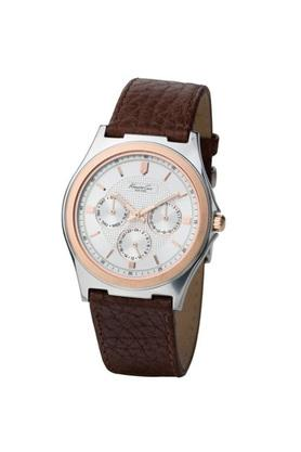eac2b7d7c X KENNETH COLE Men White Dial Leather Multi-Function Watch - IKC1466. KENNETH  COLE