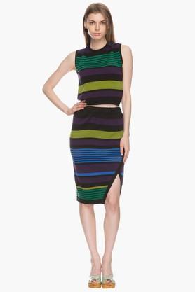 LIFEWomens Striped Skirt