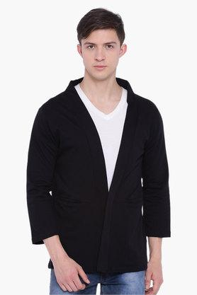 BLUE SAINT Mens Black Solid Sweatshirt  ... - 202369818