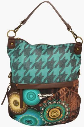 DESIGUALWomens Zipper Closure Shoulder Bag