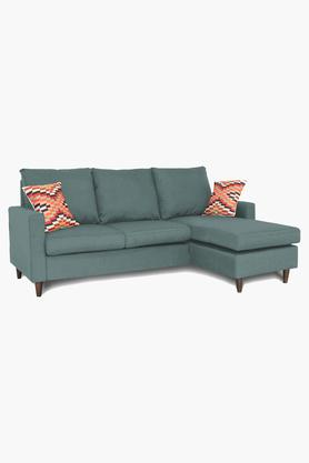 Pale Green Water Repellent Fabric Sofa (2 Seater - 1 Lounger)
