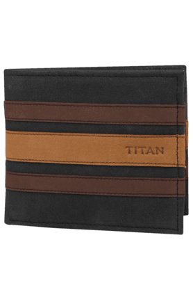 TITAN Mens Leather 1 Fold Wallet - 200436711