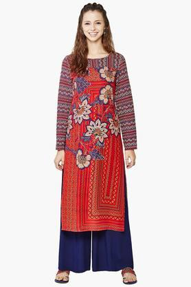 GLOBAL DESI Womens Printed Kurta - 201652445