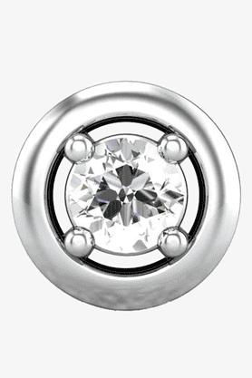 VELVETCASEWomens 18 Karat White Gold Nose Ring (Free Diamond Pendant) - 201065031