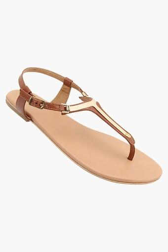 Womens Daily Wear Ankle Buckle Closure Flat Sandals