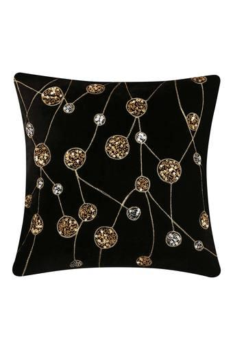 Square Molecule Embellished Cushion Cover
