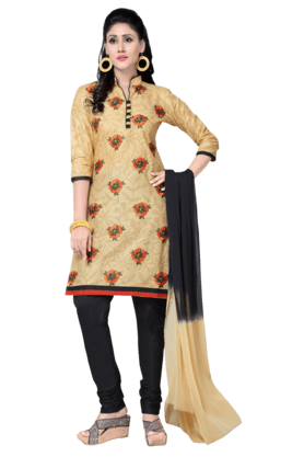 DEMARCAWomen Cotton Dress Material (Buy Any Demarca Product & Get A Pair Of Matching Earrings Free) - 200875665