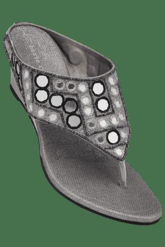 Buy HAUTE CURRY Womens Party Wear Slipon Fancy Wedge ... 98f8d5575d