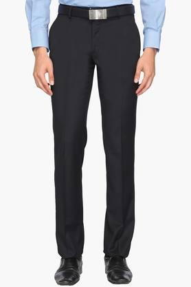 LOUIS PHILIPPEMens Regular Fit 4 Pocket Solid Formal Trousers (Contemporary Fit) - 202007761