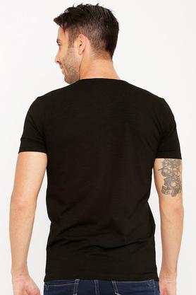 Mens Round Neck Sequined T-Shirt
