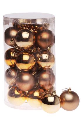 Christmas Shiny and Matt Gold Baubles
