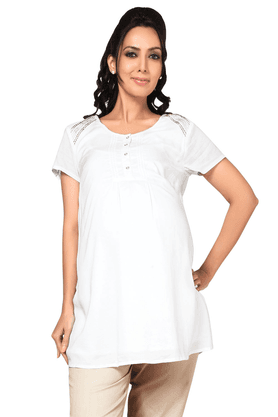 NINE MATERNITY Maternity Flowy Tunic With Embroidery Details
