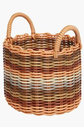 IVY Pvc Round Basket With Handle - Medium
