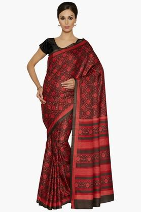 Women Paisley Print Art Silk Saree