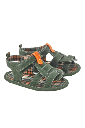 MOTHERCARE Boys Khaki Check Pattern Sandal