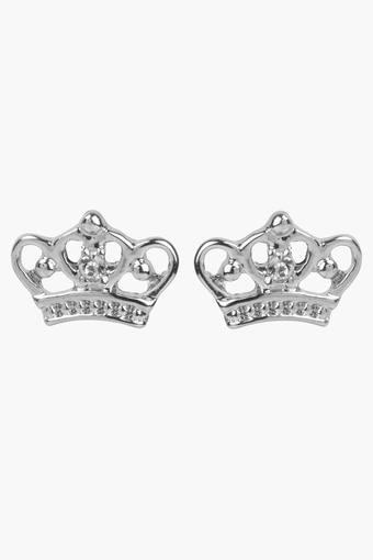 Girls Rhinestone Crown Earrings (3 Years +)