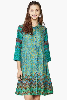 GLOBAL DESI Womens Printed Dress