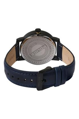 Mens Blue Dial Leather Analogue Watch - PL15404JSB02