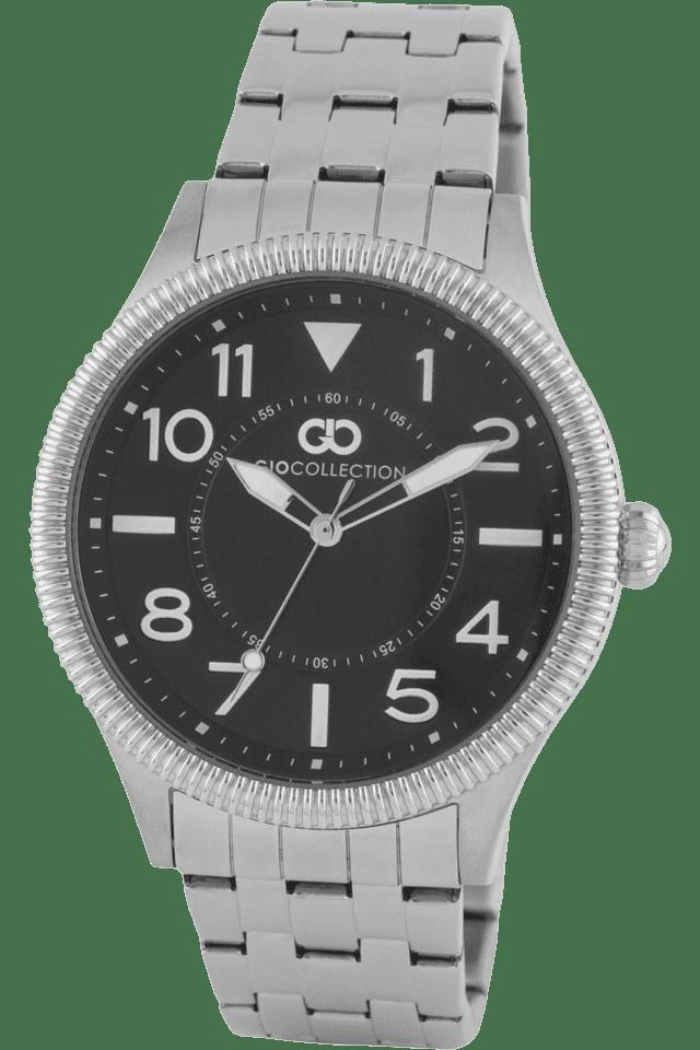 Mens Silver Metal Strap Analog Watch- G1005-22