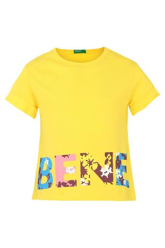 UNITED COLORS OF BENETTON -  YellowTopwear - Main